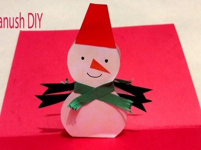 DIY HOW TO MAKE A CHRISTMAS POP UP CARD EASY