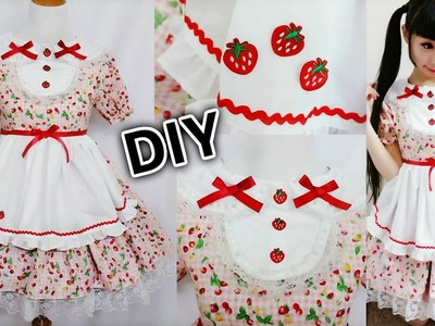 DIY Strawberry Maid Cafe Cosplay Costume