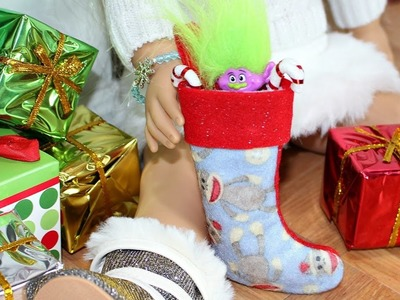 Doll Christmas Stocking | DIY American Girl Doll Crafts