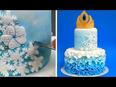 Elsa Crown Cake - How To Make White Modeling Chocolate by CakesStepbyStep