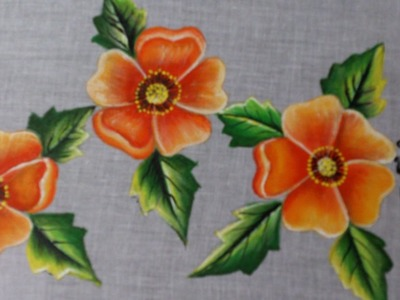 Fabric painting tutorial for beginners. Fabric painting on clothes.
