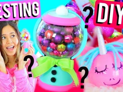 HOLIDAY DIYS TESTED! Cute Pinterest Holiday Room Decor!!!