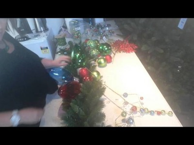 How to make a Christmas garland for your mantel or table.