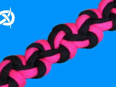 How to make a Wide Zig Zag Sinnet Paracord Bracelet