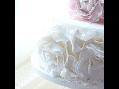 How to make Rosette Ruffles on a cake