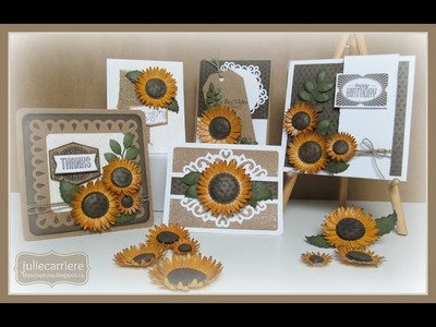 How to make SUNFLOWERS using the CTMH Cricut Art Philosophy Cartridge