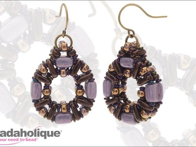 How to Make the Bella Bronze Earrings with Groovy Tile, Infinity, Bar and Demi Toho Beads