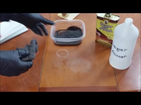 How to remove white water rings | Heat stains from wood furniture.