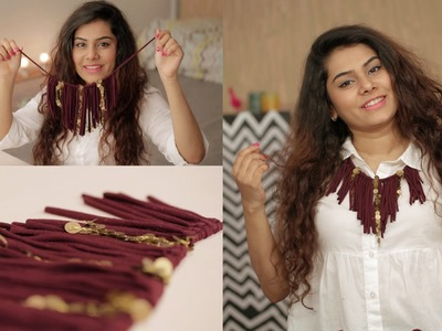 How To Repurpose an Old T-shirt Into A Fringe Necklace