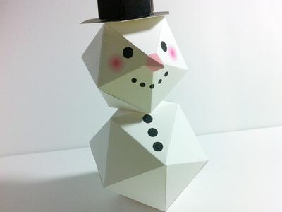 Make a Christmas Snowman with paper.พับตุ๊กตาหิมะ