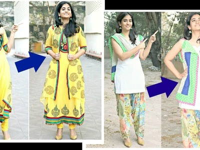Make jackets for anarkalis and salwar kameez from dupattas- No sewing method