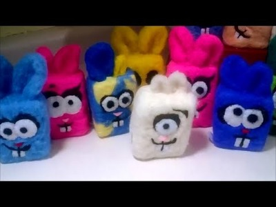 Making & Felting Easter Bunny Beasties CP Soap. for kids!