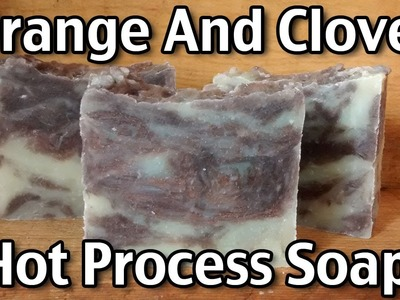 Making Orange And Clove Hot Process Soap