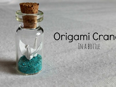 Origami Crane Bottle Charm ♥