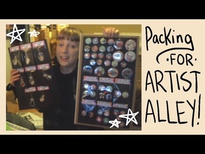 Packing for Artist Alley: What not to Forget!