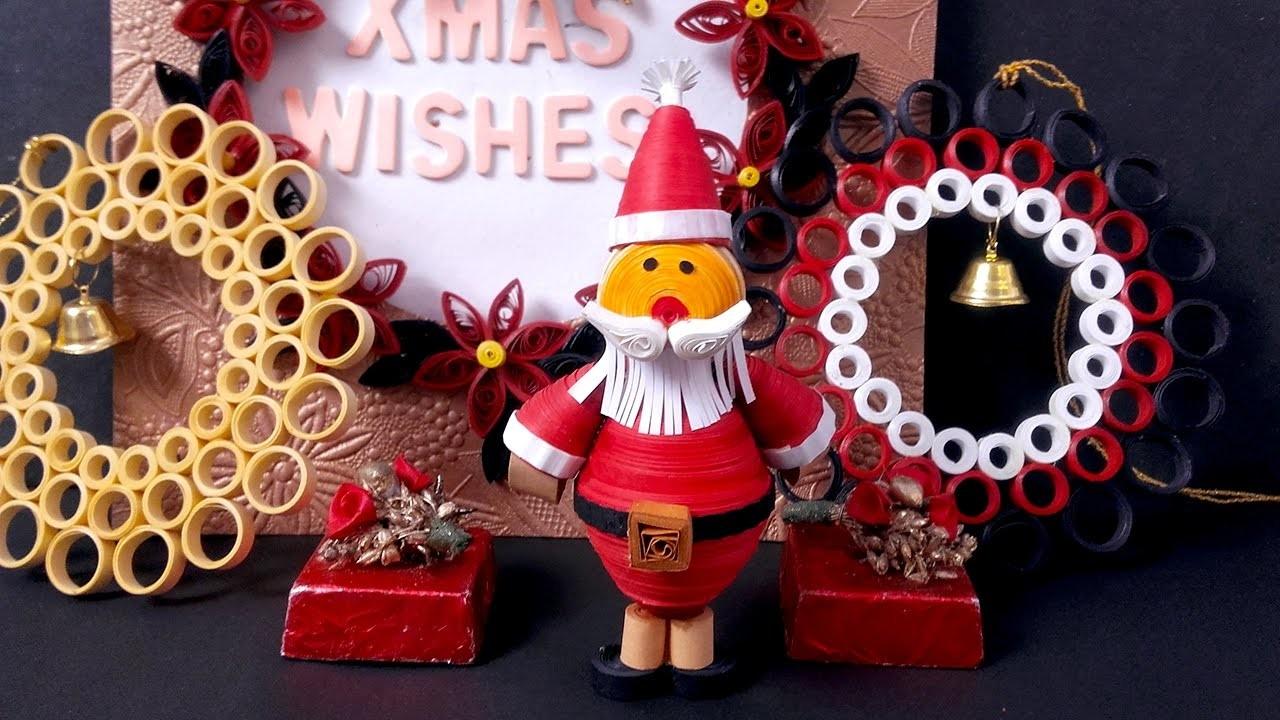 Paper Quilling Tutorial Episode 16 - Santa Craft For Christmas @ ekunji.com