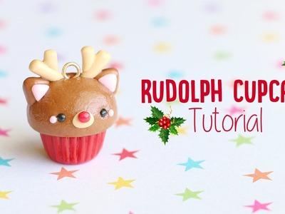 Rudolph Reindeer Cupcake│Polymer Clay Christmas Tutorial