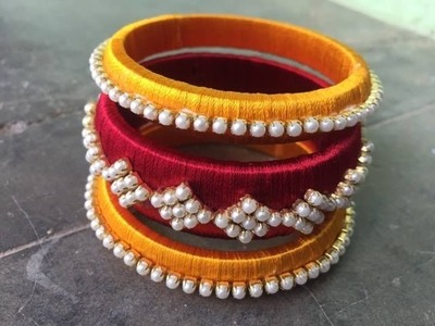 Silk thread bangles for beginners by Poojitha reddy