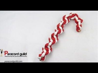 Spiral paracord candy cane