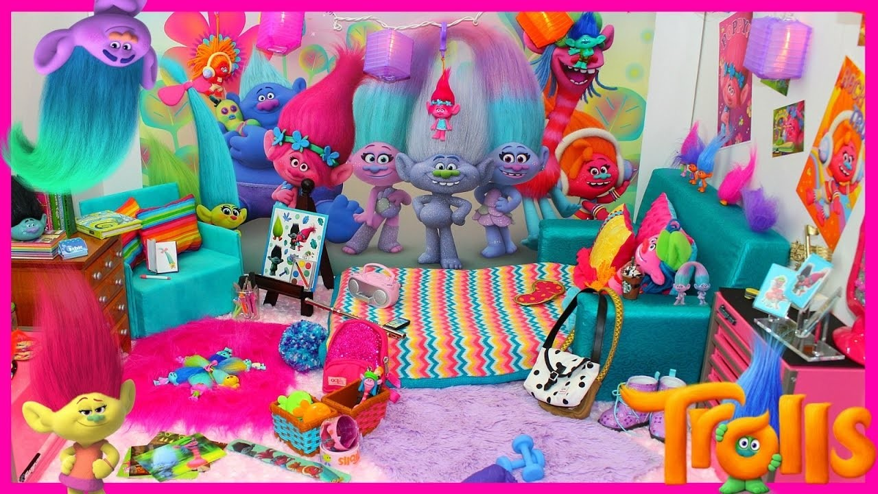 TROLLS Doll Bedroom, American Girl Doll Room