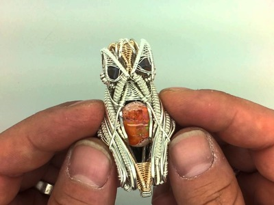 """Wire wrap pendant -""""Tonight's the Night"""" by Alan Dean"""