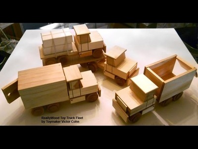 Wood Toy Plans - Table Saw - Four Easy To Make Trucks