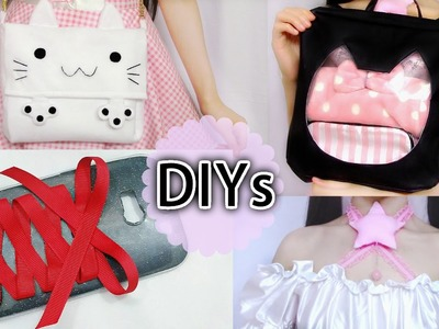 4 Creative DIYs Must Try:DIY Lace up Phone Case,Cat Keyhole Backpack (scratch),Cat Purse, more