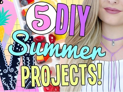 5 DIY Summer Projects you NEED to Try!! DIY Choker, iPhone Case & More! Cheap & Easy!