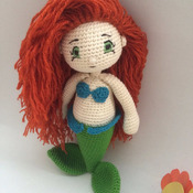 Crochet Pattern Ariel Mermaid Amigurumi Pdf