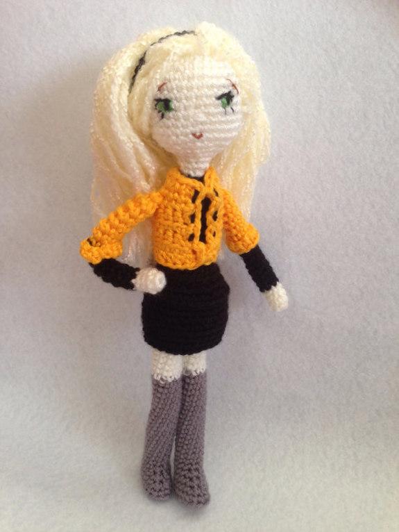 Crochet Pattern Blonde Girl Amigurumi Pdf - iremdesign ...