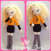 Crochet Pattern Blonde Girl Amigurumi Pdf