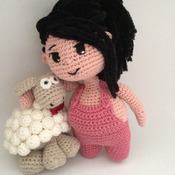 Crochet Pattern Cute Chubby Girl Amigurumi Pdf