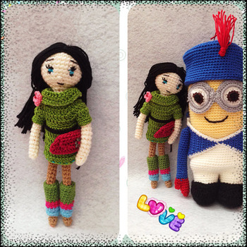 Crochet Pattern Elegant Girl Amigurumi Doll Pdf