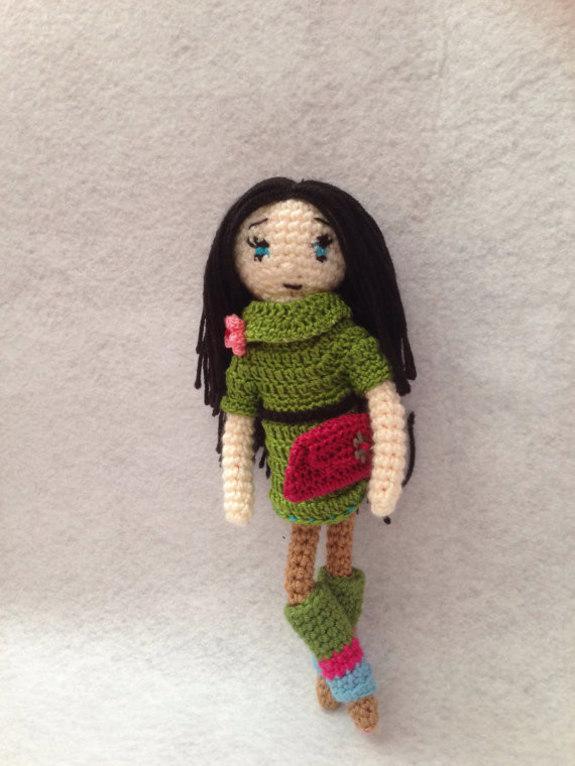 Amigurumi Pattern Girl : Crochet Pattern Elegant Girl Amigurumi Doll Pdf ...