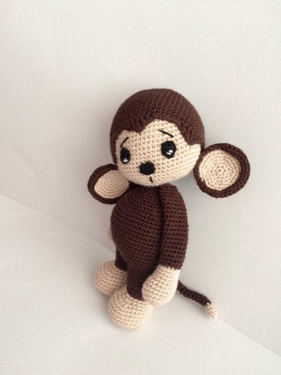 Kawaii Monkey Amigurumi : Crochet Pattern Cute Monkey Amigurumi Pdf - iremdesign ...