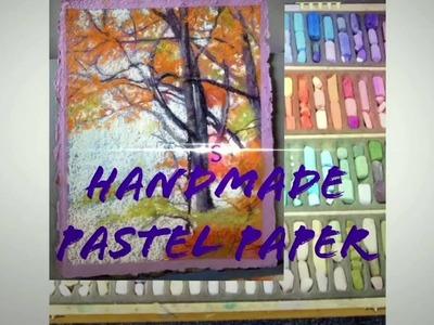 D.I.Y Sanded Pastel Paper Free !   ( Full Tutorial )