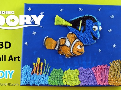 DIY 3D Pen Art: How to Make 3D Finding Dory Wall Art Tutorial by Creative World