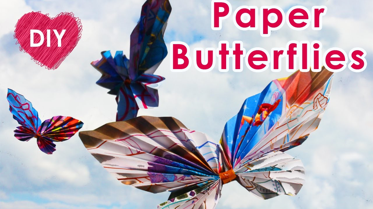 DIY crafts: Paper Butterflies | Room decor and decoration for children's party