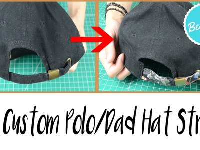 DIY: Custom Dad.Polo Hat Strap Tutorial ✂ ✂