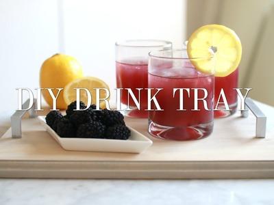 DIY Drink Tray! Easy & Affordable!