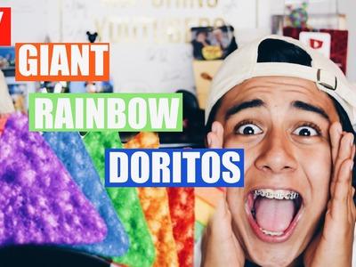 DIY GIANT RAINBOW DORITOS!