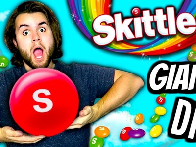 DIY GIANT SKITTLES | How To Make HUGE Edible Skittle | Biggest Rainbow Candy Ever!