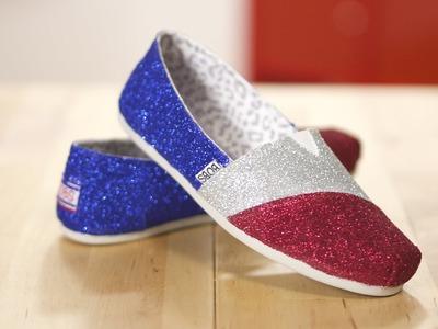 DIY Glitter Canvas Shoes