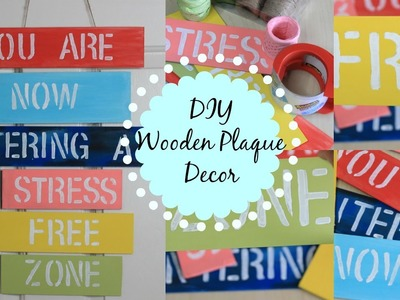 DIY HANGING WOODEN PLAQUE DECOR| Easy Colorful Room.Wall Decor| Lovely gift idea