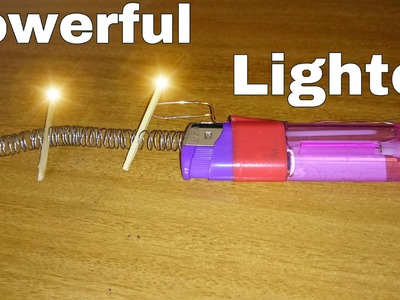 DIY How To Make Powerful Lighter at Home |CRAZY DUDE|