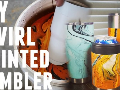 DIY - HOW TO SWIRL SPRAY PAINT A YETI OZARK TRAIL REC PRO RAMBLER
