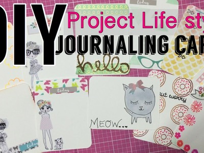 DIY Journaling Cards. project life style | I'm A Cool Mom