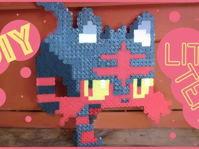 DIY: Litten from Pokemon | Bead Sprites (Perler.Hama.Arktal Beads)