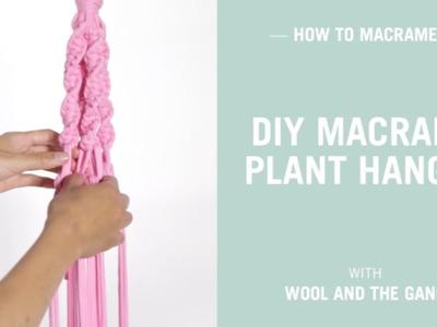 DIY Macrame Plant Hanger - super easy!