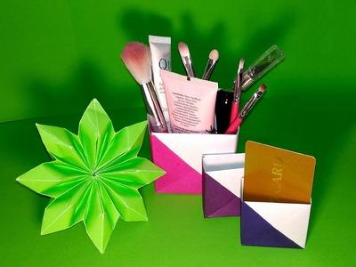 Makeup diy kawai watermelon makeup bag summer edition diy kawai diy makeup holder origami business card holder reheart Image collections